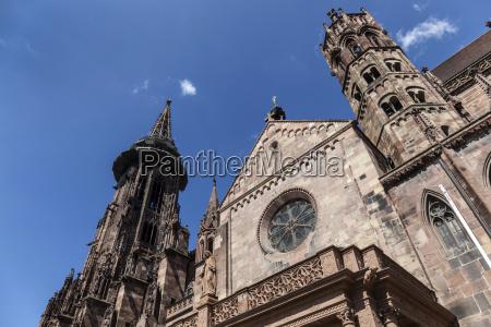 main tower of world famous freiburg