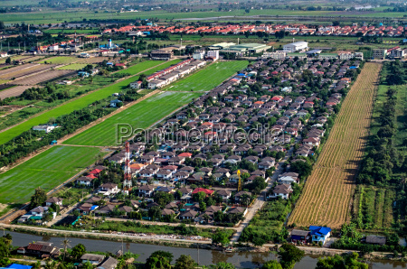 housing and land development aerial photography
