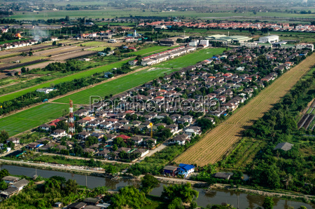 land development and housing aerial photography