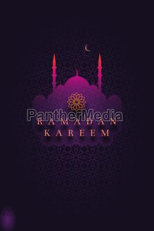 islamic greeting card design for ramadan