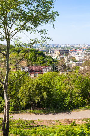 castle hill and podil district in