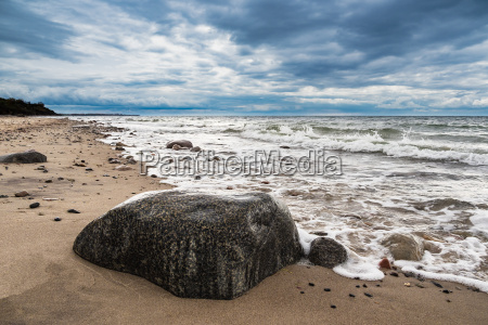 stones on the coast of the