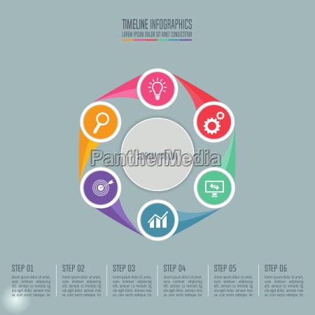 concepto creativo para infografia timeline infographic