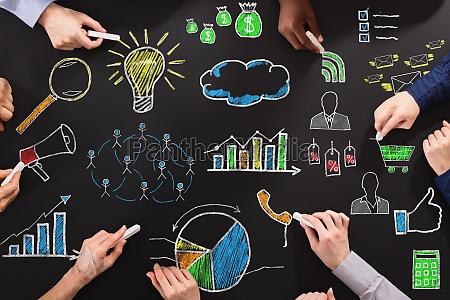 estrategias de negocio de dibujo de
