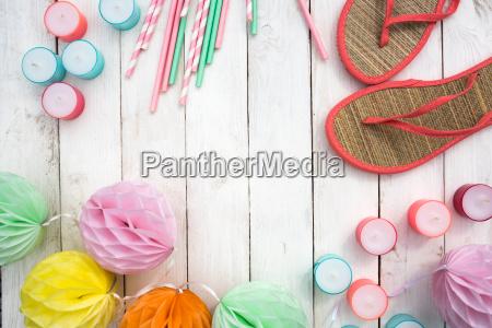 accesorios de verano para una fiesta