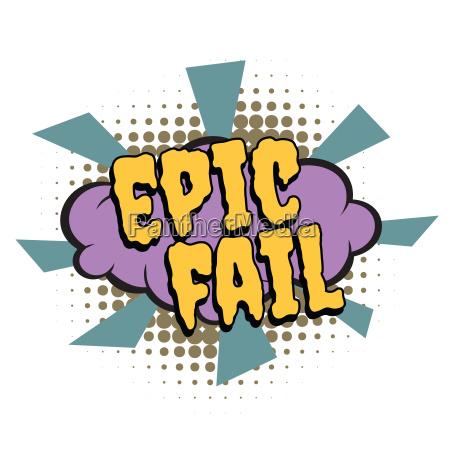 palabra, cómica, épica, fallar - 22646575