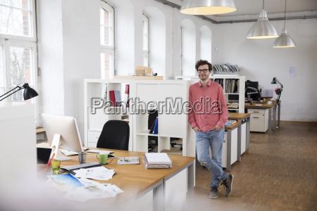 portrait of confident man standing in