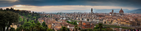 florence panorama from piazzale michelangelo with