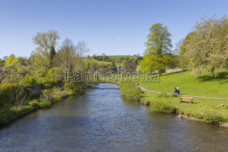 the river wye in bakewell in