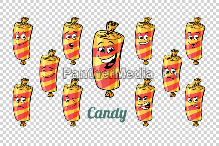 confectionery sweet candy in the wrapper
