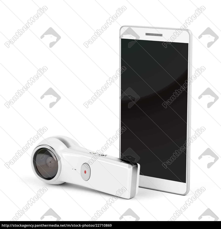 cámara, de, 360, grados, y, smartphone - 22710869
