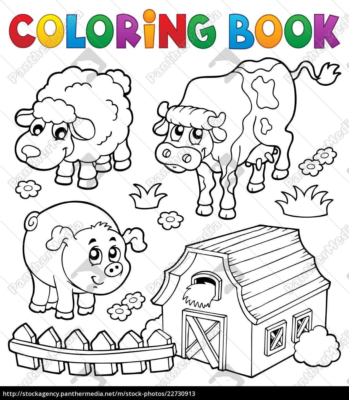 Stockphoto 22730913 Libro Para Colorear Con Animales De Granja 6