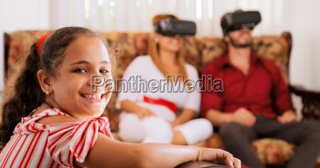 retrato de la hija feliz y