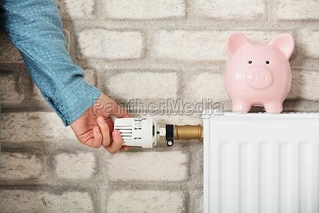 piggy bank en radiador