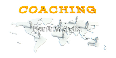 coaching concept with business team