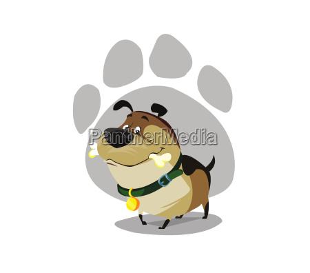 perro de perrito feliz coloreado de