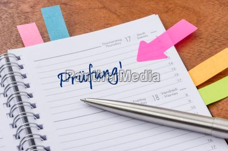 calendario con sugerencia pegatinas examen