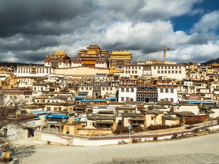 monasterio monastico tibetana budismo china