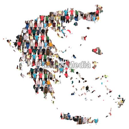 greece map people people people group