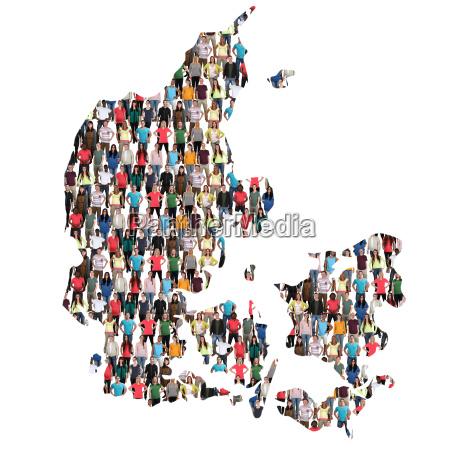 denmark map people people group people