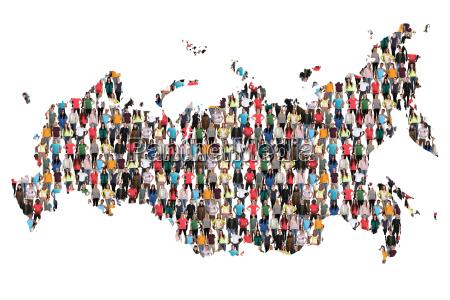 mapa de rusia gente grupo humano