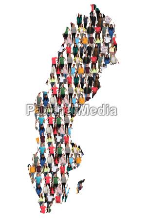sweden map people people people group