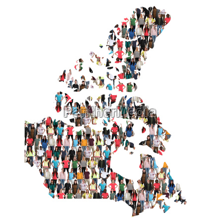 canada map people people people group