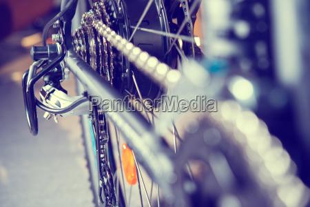 cierre del engranaje de la bicicleta