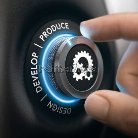 industrial process from design to production