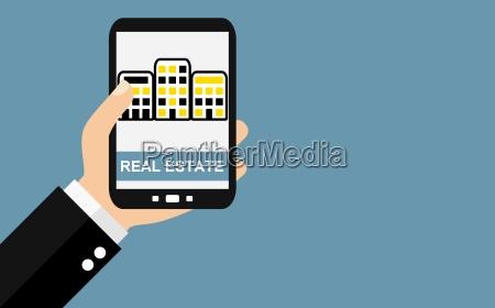 real estate on smartphone