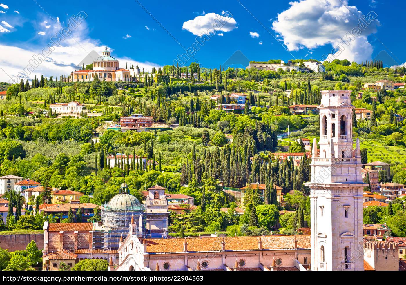 verona, rooftops, and, madonna, di, lourdes - 22904563