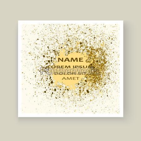 salpicadura de pintura de oro salpicaduras