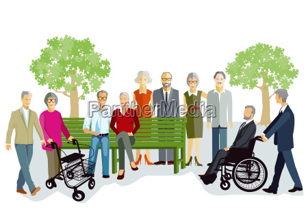 older people and seniors