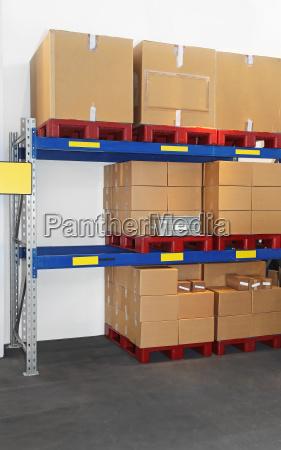 cajas en estante