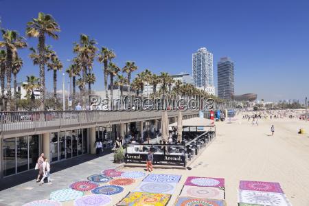 barceloneta beach port olimpic mapfre tower
