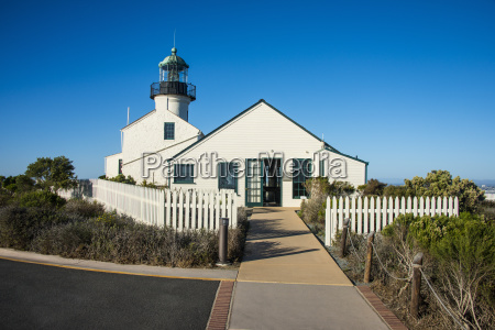 old point loma lighthouse on the