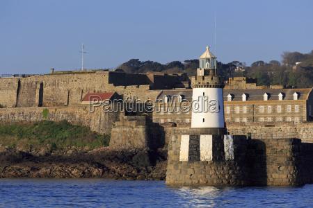 castle breakwater lighthouse st peter port