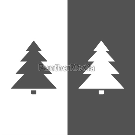 isolated christmas tree icon on black
