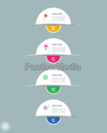 creative concept for infographic with 4