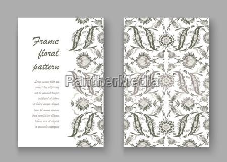 folleto grafico flor planta romantico barroco