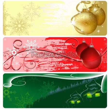 christmas web site banner set