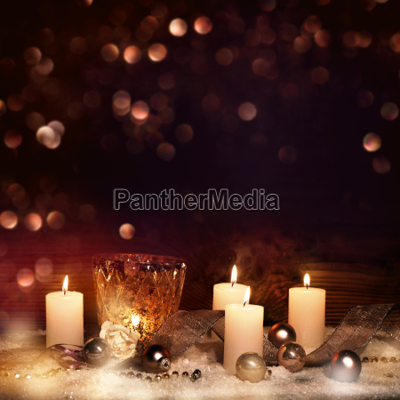 festive advent decoration with candles