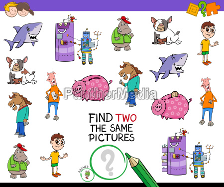 find two the same pictures cartoon