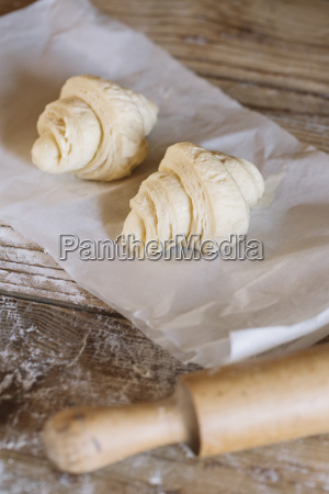 preparing homemade croissants