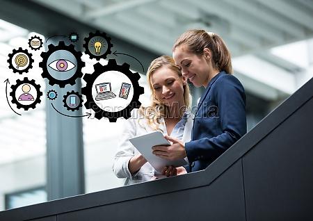 dos mujeres de negocios en las