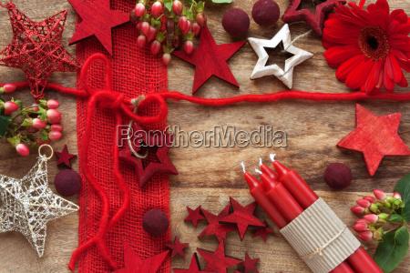 decoration on wood for advent season
