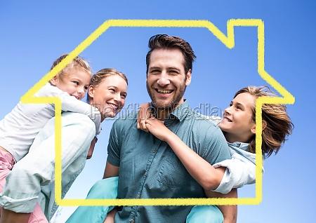 mujer casa construccion risilla sonrisas medio