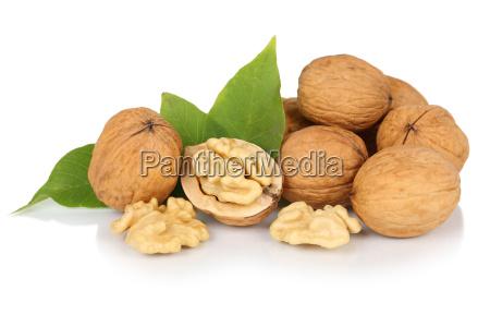 nueces nueces frescas nuez bowl hojas