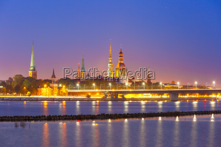 old town and river daugava at