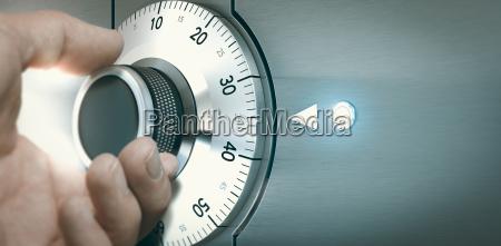 esfera del reloj seguro caja marcar